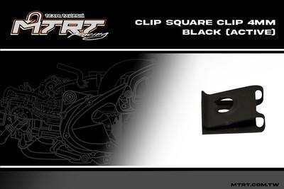 CLIP SQUARE CLIP 4MM BLACK (ACTIVE)