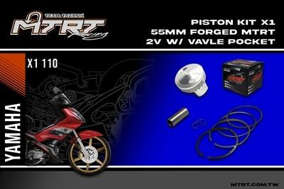 PISTON  KIT  X1 2V 55MM Forged  MTRT 2V with valve pocket