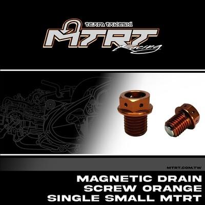 MAGNETIC DRAIN Screw ORANGE Single SMALL MTRT