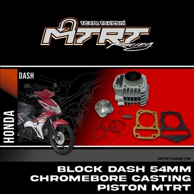 BLOCK DASH 54MM Chromebore Casting piston MTRT