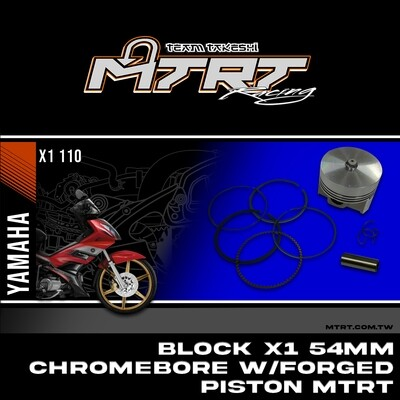 BLOCK X1 54MM Chromebore w/FORGED PISTON KIT MTRT