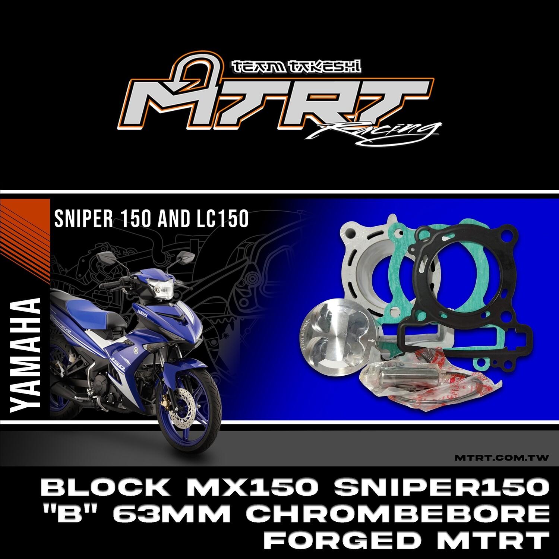 """BLOCK MX150/SNIPER150 """"B"""" 63mm chromebore FORGED  MTRT"""