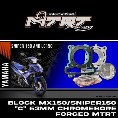 "BLOCK MX150/SNIPER150 ""C""  63mm CHROMEBORE FORGED  MTRT"