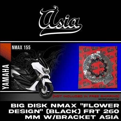 "BIG DISK NMAX /Aerox ""FLOWER DESIGN"" (BLACK) FRT 260MM w/bracket  ASIA"