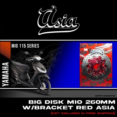BIG DISK MIO 260MM with bracket RED   ASIA