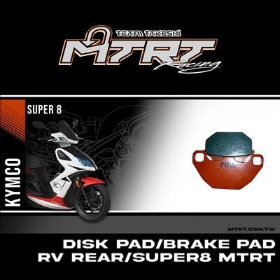 DISK PAD BRAKE PAD RV Rear SUPER8 MTRT