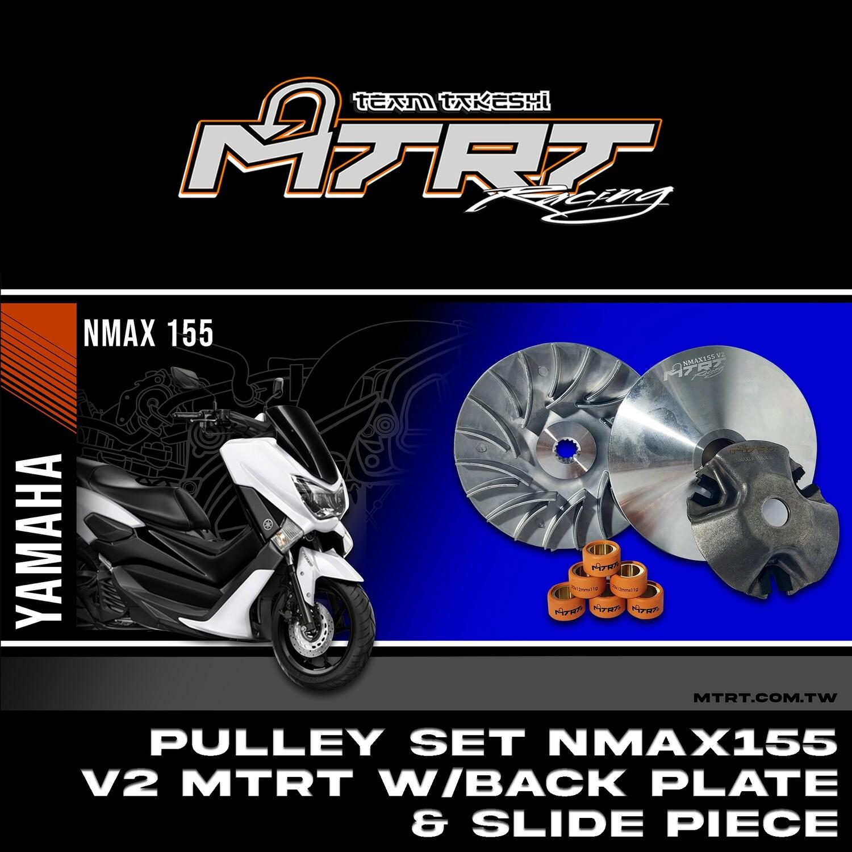 PULLEY SET NMAX155  V2 MTRT w/Back Plate&Slide piece