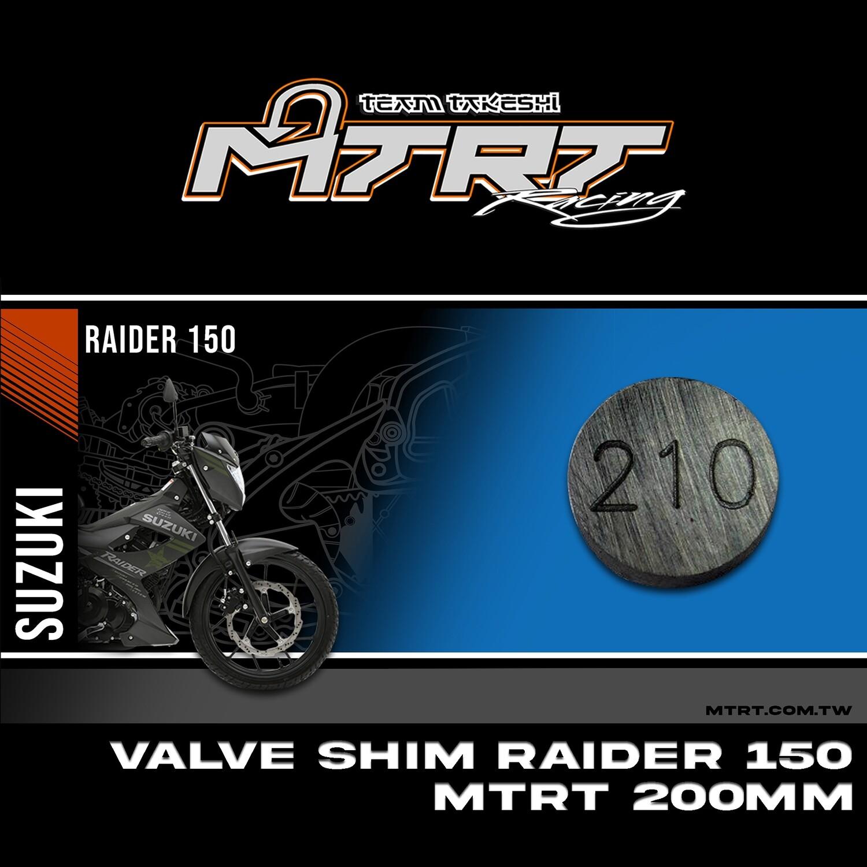 VALVE SHIM RAIDER150CBR MTRT 210mm