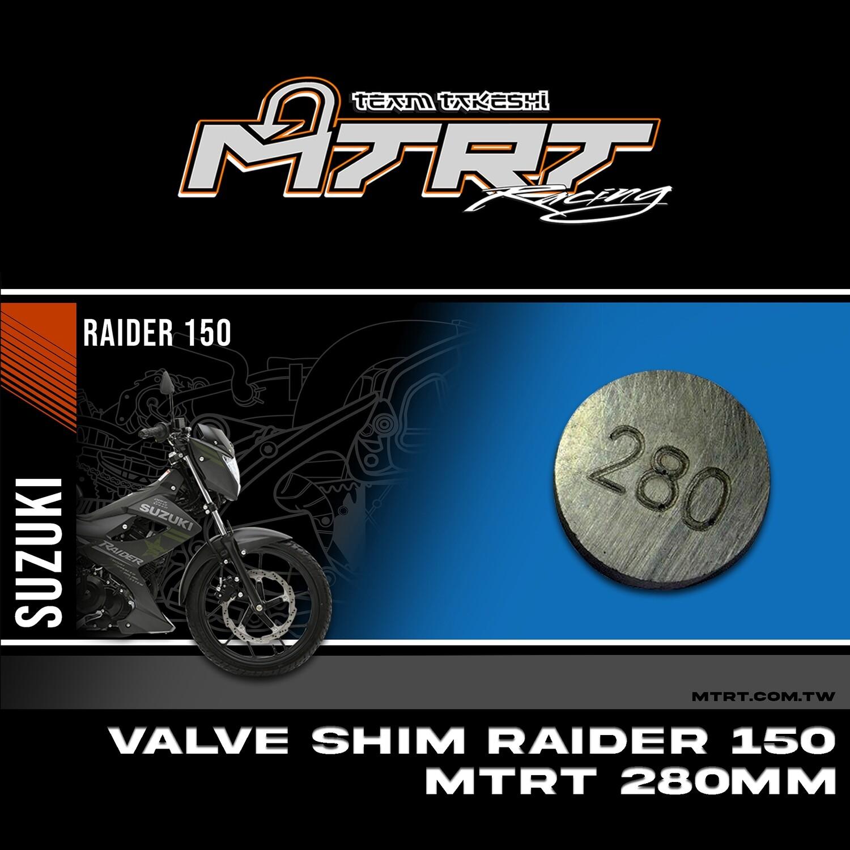 VALVE SHIM RAIDER150CBR MTRT 280mm