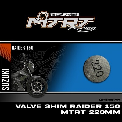 VALVE SHIM RAIDER150CBR MTRT 220mm M-Op1