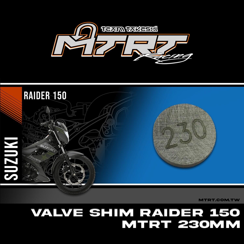 VALVE SHIM RAIDER150CBR MTRT 230mm