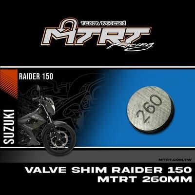 VALVE SHIM RAIDER150 CBR MTRT 260mm