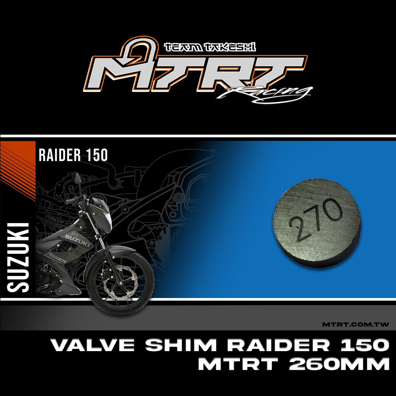 VALVE SHIM RAIDER150CBR MTRT 270mm M-Op1