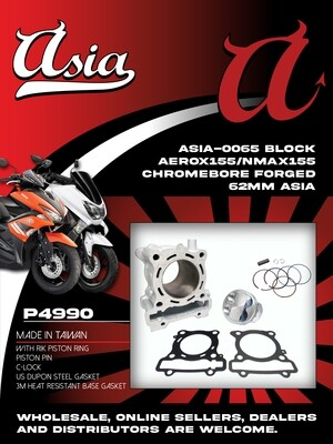 BLOCK NMAX155 CHROMEBORE FORGED 62MM ASIA