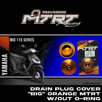 "DRAIN PLUG COVER ""BIG""  ORANGE MTRT W/OUT O-RING MIO/NMAX155/AEROX155"
