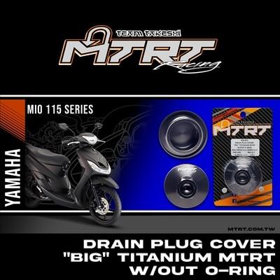 "DRAIN PLUG COVER ""BIG""  TITANIUM MTRT W/OUT O-RING MIO/NMAX155/AEROX155"
