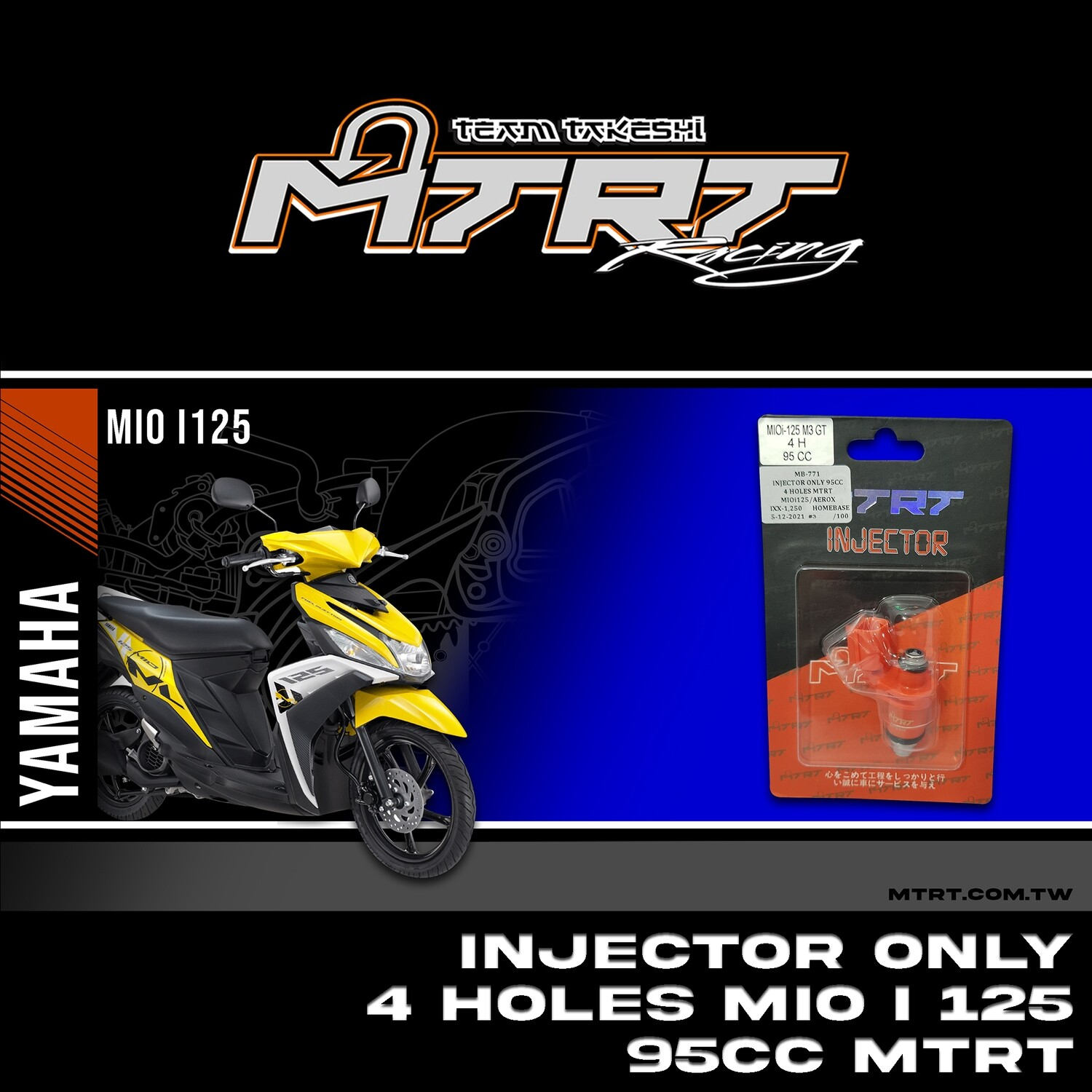 INJECTOR ONLY 4HOLES  MIOi125/AEROX  95CC MTRT