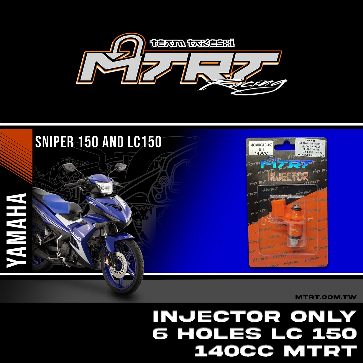 INJECTOR ONLY 6HOLES LC150 NMAX155 140CC MTRT