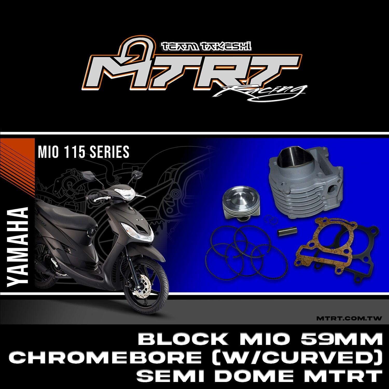 Chromebore BLOCK MIO 59mm  (w / Curved) Semi dome MTRT