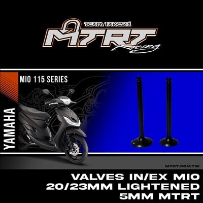 VALVES  IN/EX  MIO 20/23MM Lightened 5mm MTRT