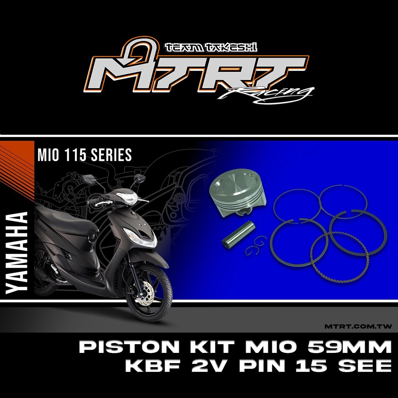 PISTON  KIT  MIO 59MM KBF 2V PIN15 SEE