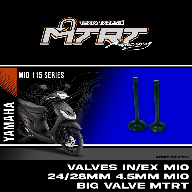VALVES IN/EX  MIO 24/28mm 4.5MM MIO big valve MTRT