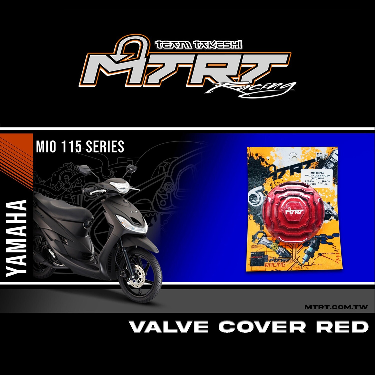 VALVE COVER DOUBLE LAYER RED MIO MTRT