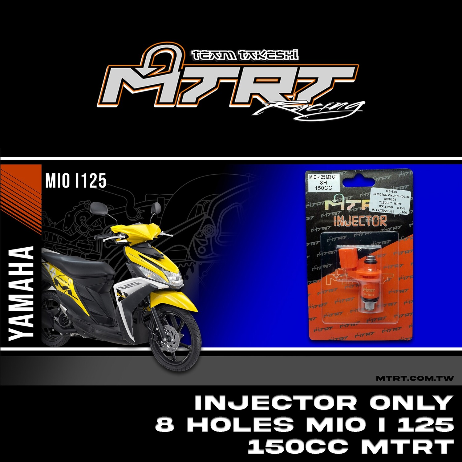 INJECTOR ONLY 8HOLES  MIOi125  150CC MTRT