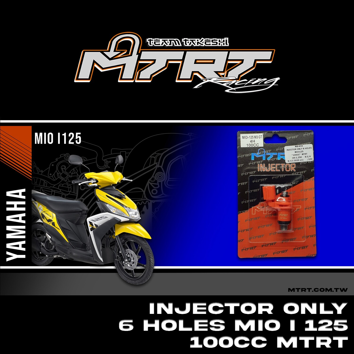 INJECTOR ONLY 6HOLES  MIOi125  100CC MTRT