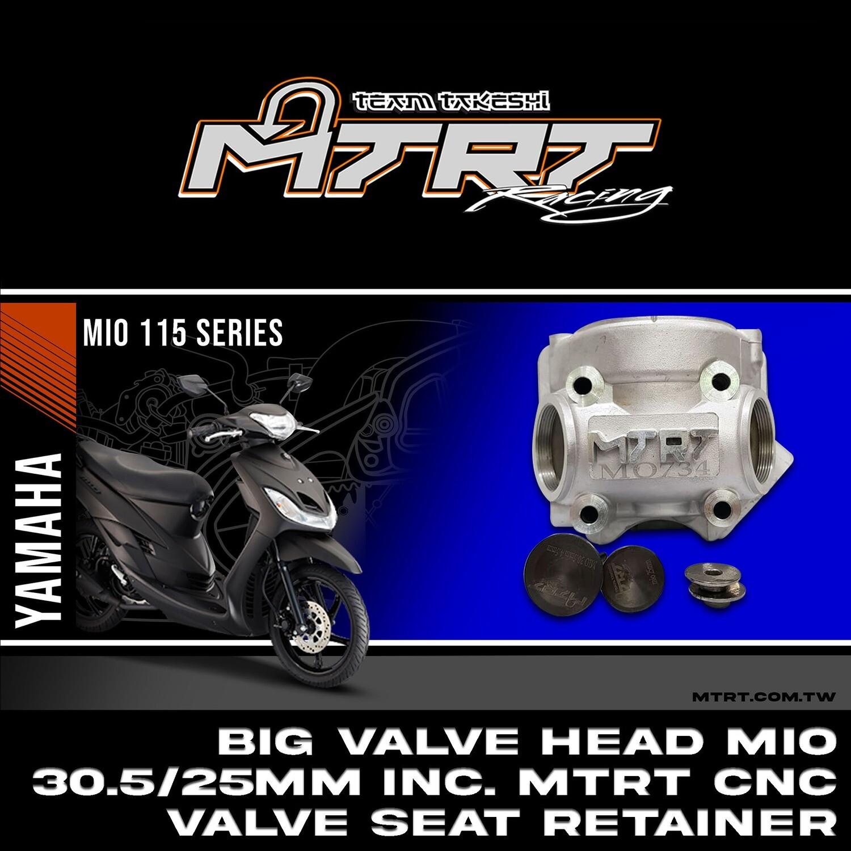 BIG VALVE HEAD MIO 30.5/25MM INC. MTRT CNC VALVE SEAT RETAINER