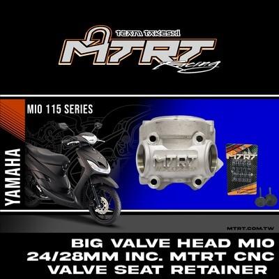 BIG VALVE HEAD MIO24/28mmINC.MTRT (CNC 8) OCHO (retainer,vSpring6t,valve seat)