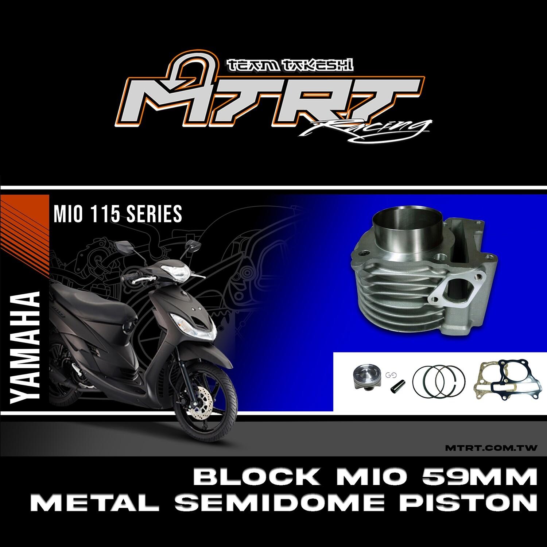 BLOCK MIO 59MM METAL SEMI DOME PISTON