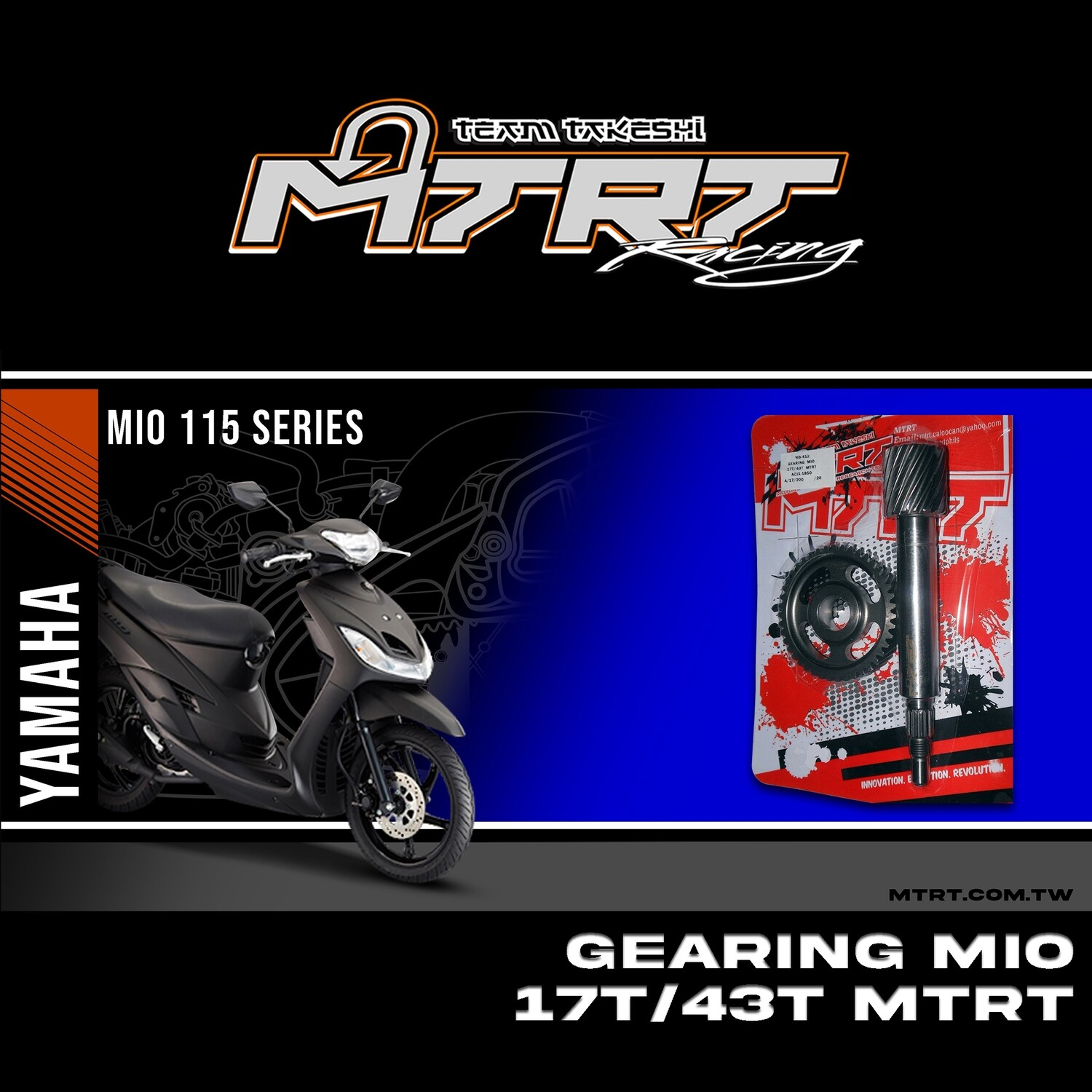 GEARING  MIO  17T/43T  MTRT