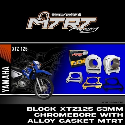 MTRT 63MM CHROMEBORE BLOCK only with alloy gasket for  XTZ125