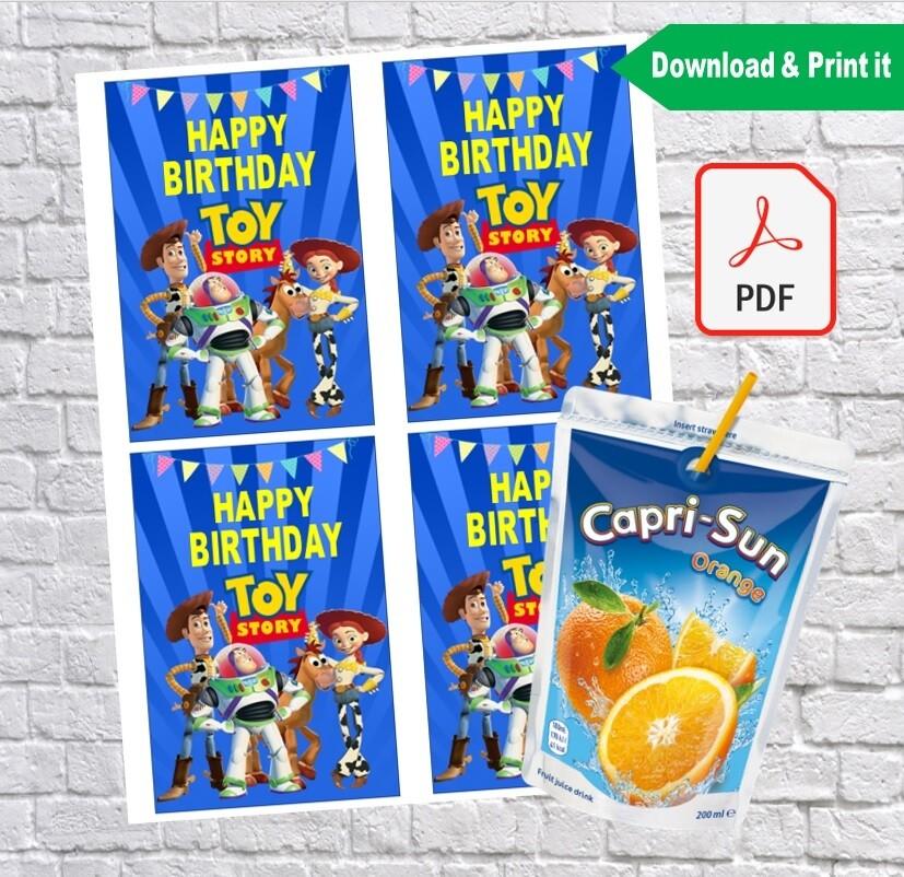 Toy Story Birthday Party Capri Sun Labels Printable