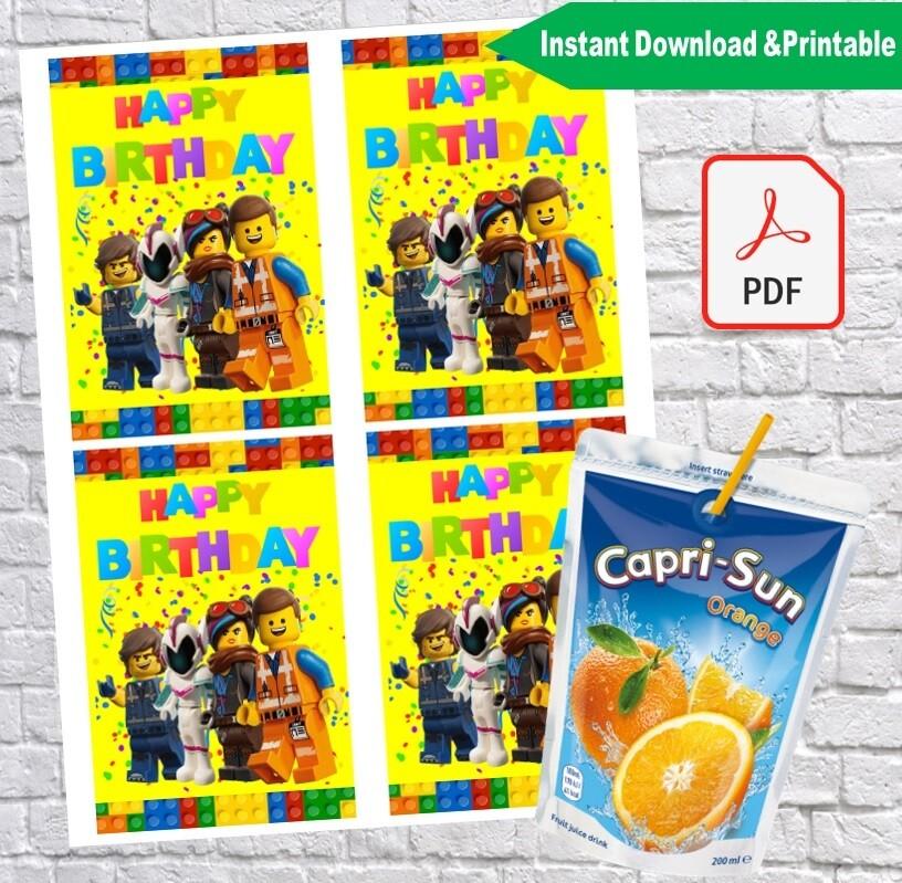 Lego Movie Capri Sun Pouch Labels Printable