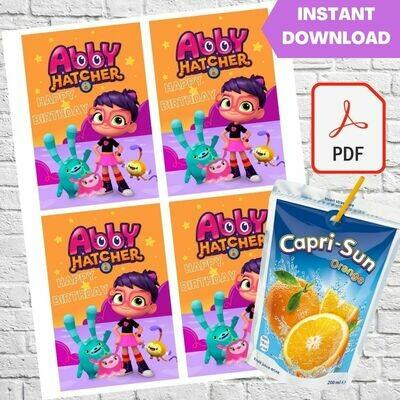 Abby Hatcher Capri Sun Pouch Labels Printable