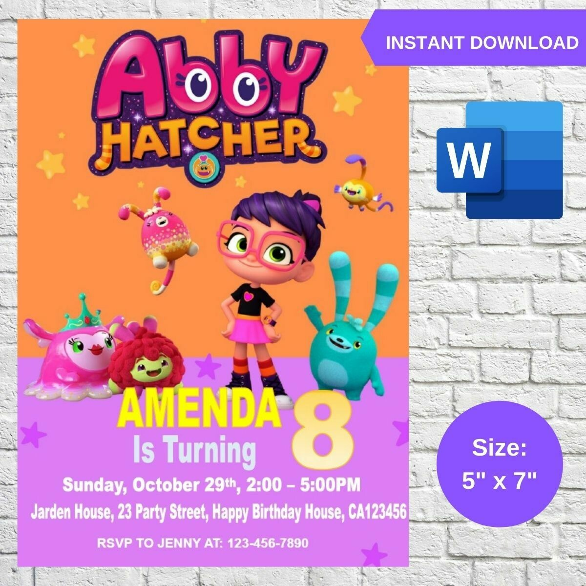 Abby Hatcher Party Invitation Printable Template