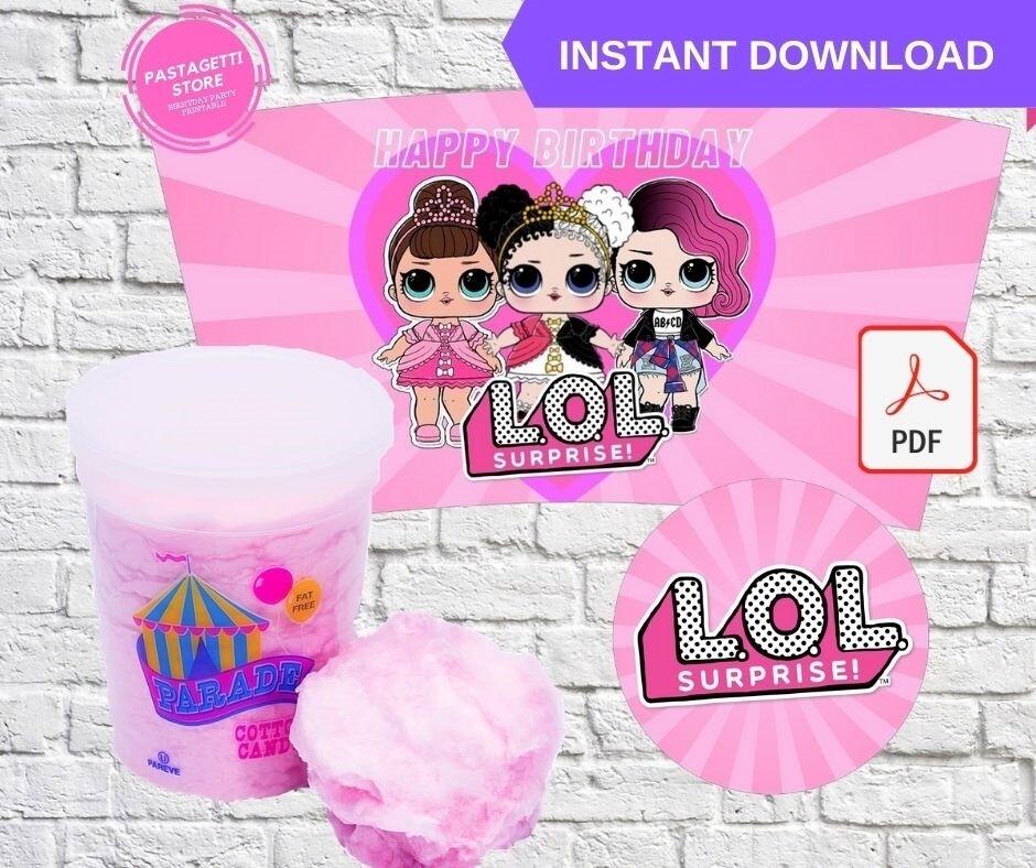 LOL Surprise Dolls Cotton Candy Tub Wrappers Labels