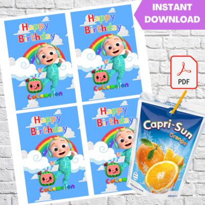 Cocomelon Baby JJ Capri Sun Juice Bag Label