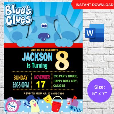 Blue Clues Birthday Invitation Template