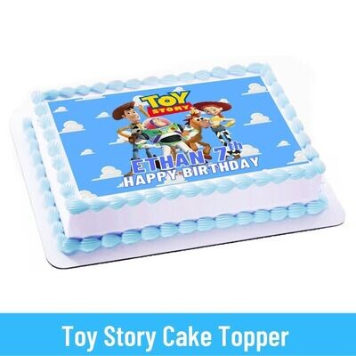 Toy Story Party Personalized Cake Topper