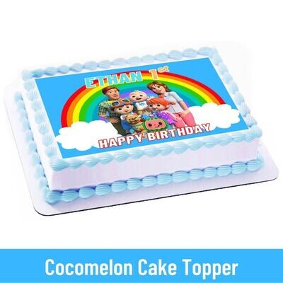 Cocomelon JJ Family Party Personalized Cake Topper