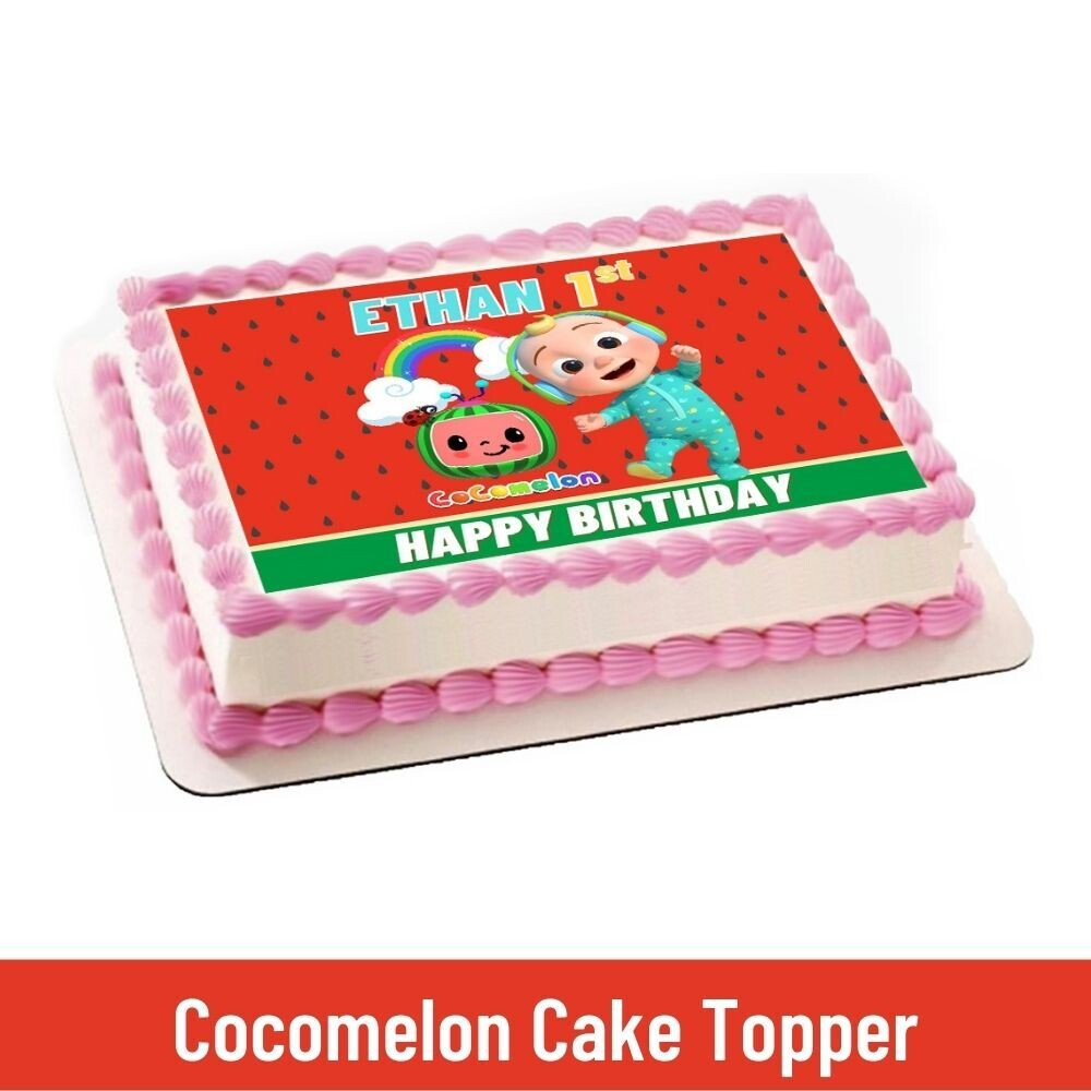 Cocomelon Baby Party Personalized Cake Topper
