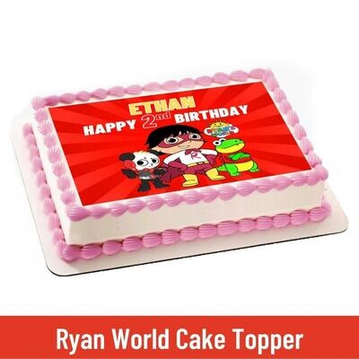 Ryan's World Party Personalized Cake Topper