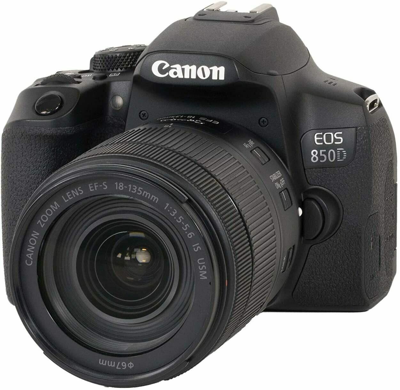 EOS 850D + EF-S 18-135mm f/3.5-5.6 IS USM, Black