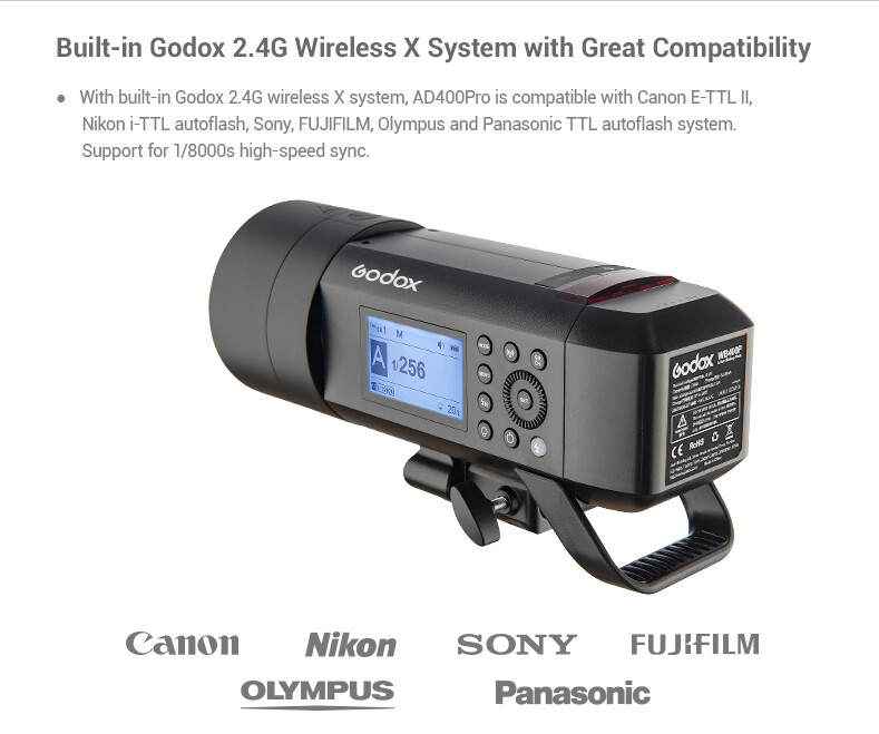 Godox  WITSTRO All-in-One Outdoor Flash AD400Pro