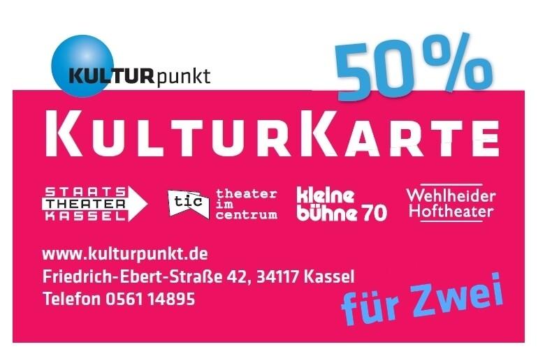 KulturKarte 50% für Zwei