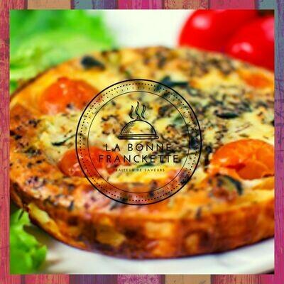 Clafoutis de courgettes, tomates & chèvre