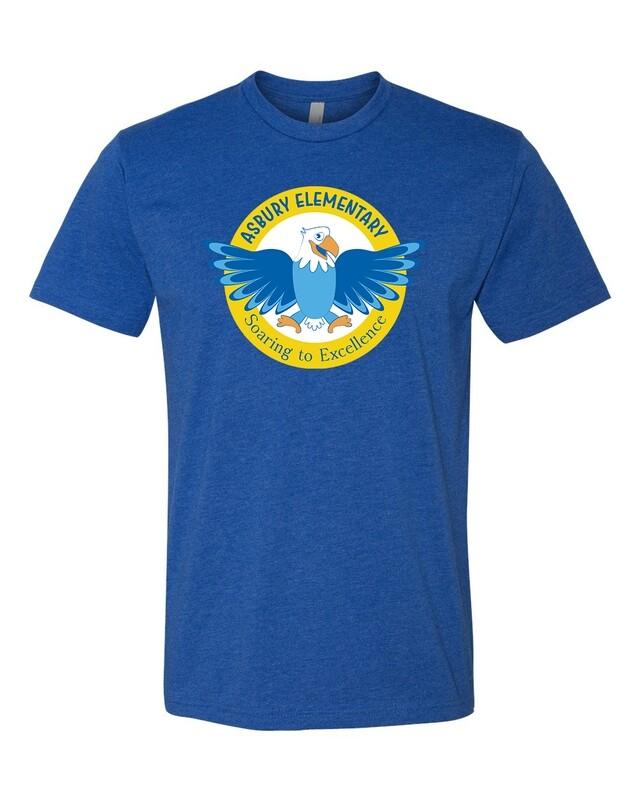 Blue Asbury Logo T-shirts